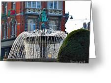Fountain Of Brussels Greeting Card