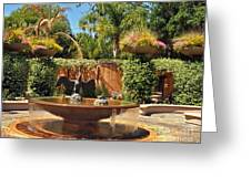 Fountain Of Zoo 2 Greeting Card