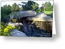 Fountain Out Of Rocks Greeting Card