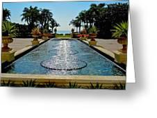 Fountain Pool Greeting Card