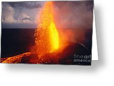 Fountaining Kilauea Greeting Card