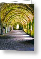 Fountains Abbey, Vaulted Chamber Greeting Card