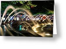 Fountains At Columbus Circle Greeting Card