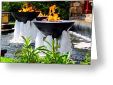 Fountains Of Fire Greeting Card