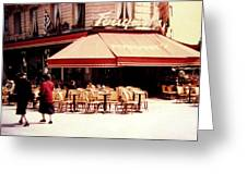 Fouquets Of Paris 1955 Greeting Card