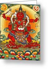 Four Armed Dzambhala Greeting Card