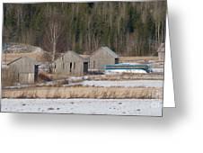 Four Barns Greeting Card