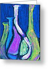 Four Bottle Abstract Greeting Card
