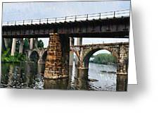 Four Bridges Of East Falls Greeting Card