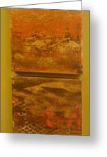 Four Brown Panels Greeting Card