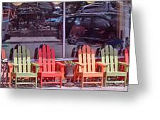 Four Chairs Greeting Card