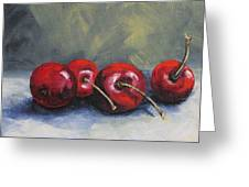 Four Cherries Greeting Card
