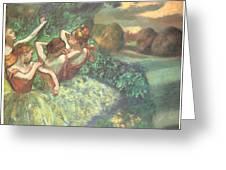 Four Dancers Greeting Card