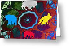 Four Directions   -009 Greeting Card