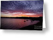 Four Elements Sunset Sequence 1 Coconuts Qld  Greeting Card