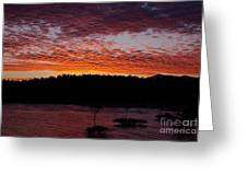 Four Elements Sunset Sequence 2 Coconuts Qld Greeting Card