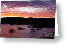 Four Elements Sunset Sequence 3 Coconuts Qld Greeting Card