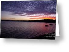Four Elements Sunset Sequence 4 Coconuts Qld  Greeting Card