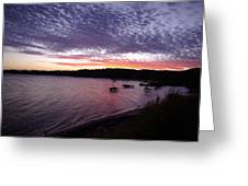 Four Elements Sunset Sequence 6 Coconuts Qld  Greeting Card