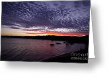 Four Elements Sunset Sequence 7 Coconuts Qld  Greeting Card