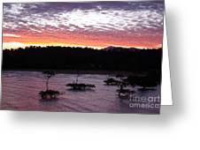 Four Elements Sunset Sequence 8 Coconuts Qld  Greeting Card