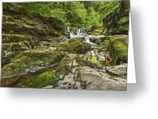 Four Falls Walk Waterfall 3 Greeting Card