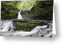 Four Falls Walk Waterfall 5 Greeting Card