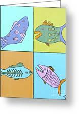 Four Fish Greeting Card
