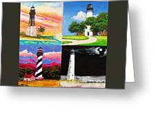 Four Florida Lighthouses Greeting Card