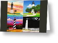 Four Florida Lighthouses Greeting Card