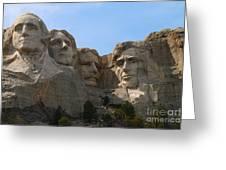 Four Former U S Presidents Greeting Card