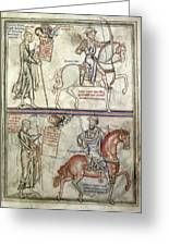Four Horsemen, 1250 Greeting Card