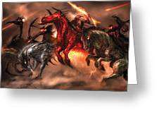 Four Horsemen Greeting Card