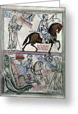 Four Horsemen Greeting Card