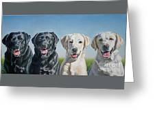 Four Labs Greeting Card