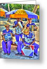 Four Man Band Greeting Card by Michael Garyet