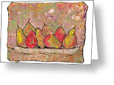 Four Pair Of Pears Greeting Card