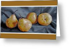 Four Pears Greeting Card