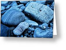 Four Rocks In Blue Greeting Card