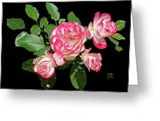 Four Roses Cutout Greeting Card