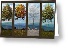 Four Seasons Greeting Card