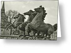 Four Seasons Sculpture Greeting Card by Dressage Design