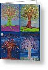 Four Seasons Trees By Jrr Greeting Card