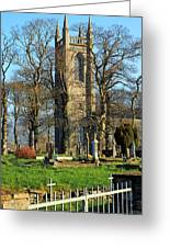 Four Steeples Greeting Card