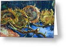 Four Sunflowers Gone To Seed, By Vincent Van Gogh, 1887, Kroller Greeting Card