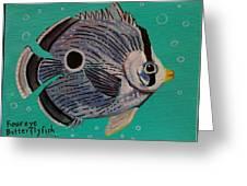 Foureye Butterflyfish Greeting Card