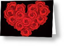 Fourteen Roses Greeting Card by Wim Lanclus