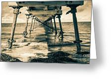 Fowlers Bay Jetty Greeting Card