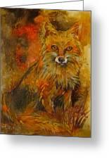 Fox Fire Greeting Card