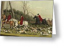 Fox Hunting Going Into Cover Greeting Card